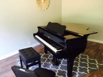 Grand piano at the studio in Newhall