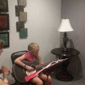 Suncho guitar student learning a new song.